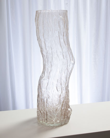 Faux Bois Glass Medium Vase