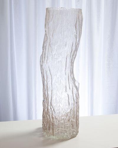 Faux Bois Glass Medium Vase