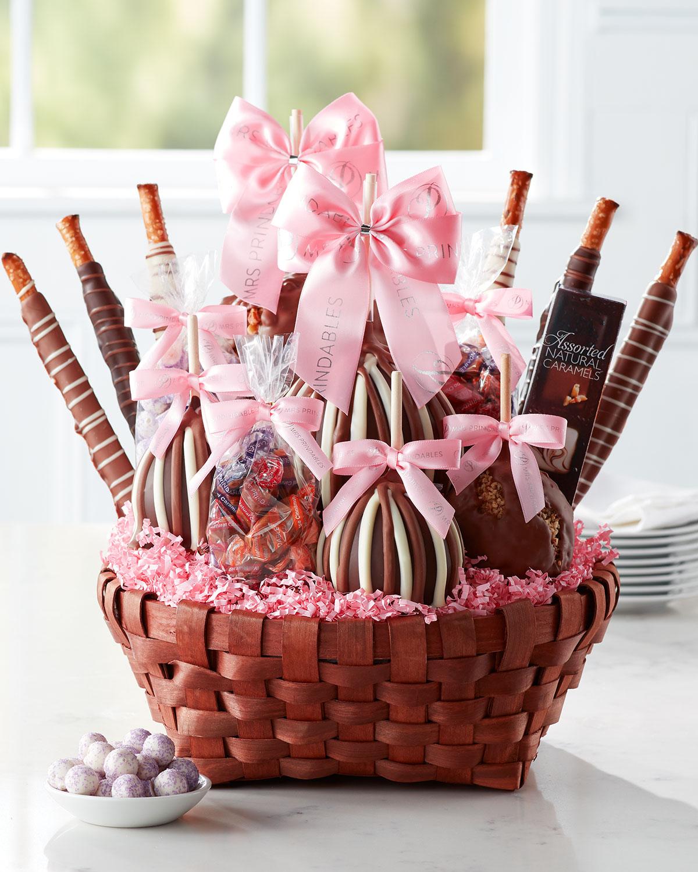 Mrs Prindable Spremium Spring Caramel Apple Gift Basket