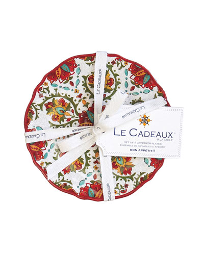 Melamine Appetizer Plates  Set of Four