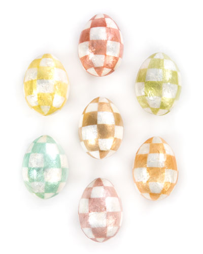 Cream Eggs  Set of 7