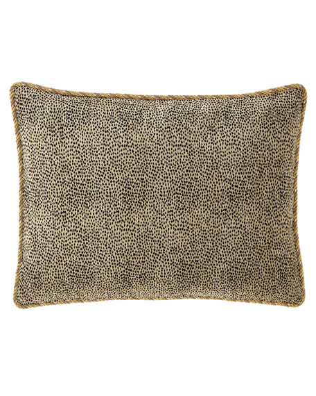 Lotus King Animal-Print Sham