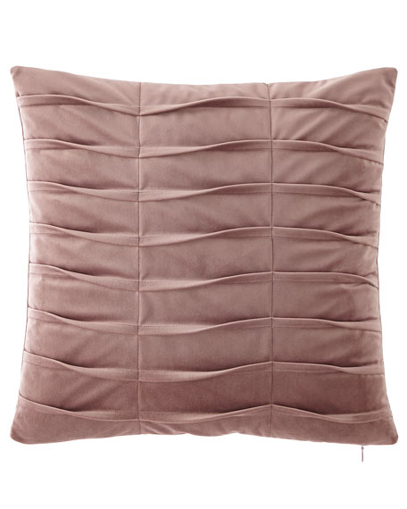 Lotus Pleated Velvet Boutique Pillow