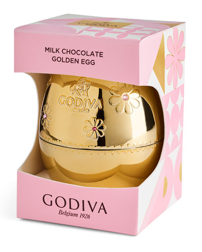 Golden Egg with Foil Wrapped Chocolates