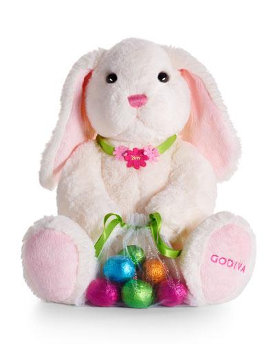 Plush Bunny with Foil Eggs