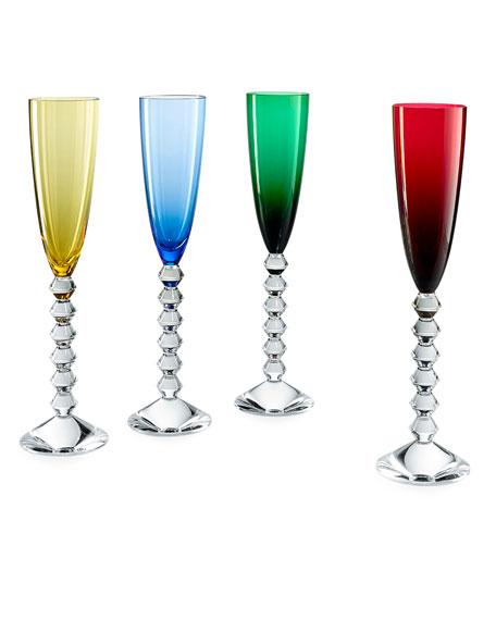 Baccarat Vega Flutissmino Champagne Flutes, Set of 4