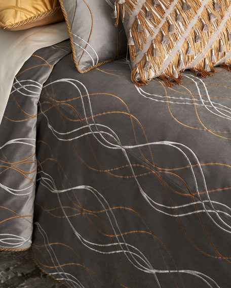 Rialto Velvet Embroidered Queen Duvet