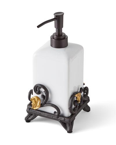 Gold Leaf Soap Dispenser