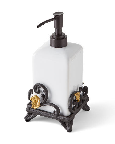 G G Collection Gold Leaf Soap Dispenser