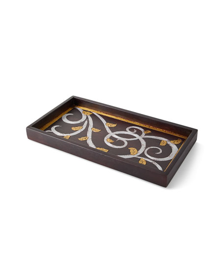 G G Collection Gold Leaf Tray