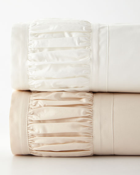 Ruched California King Sheet Set
