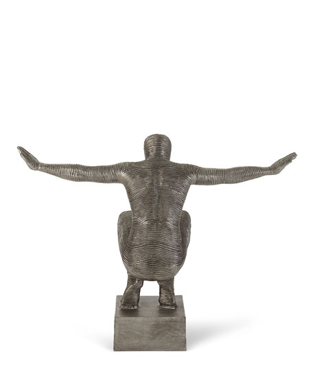 Squatting Man Sculpture