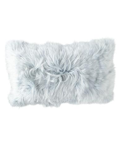 Suri Alpaca in Celestite Pillow