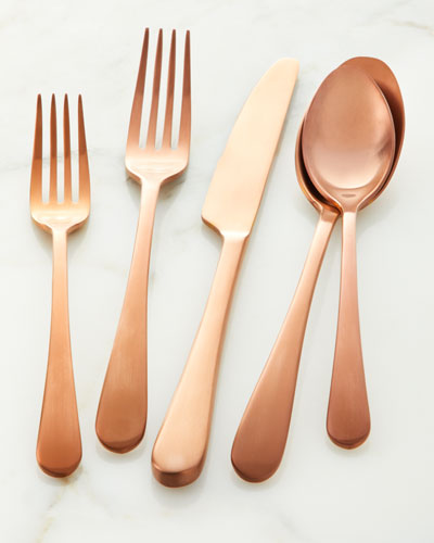 20-Piece Mirabella Satin Copper Flatware Set