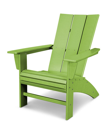 All Weather Modern Adirondack Chair, Lime