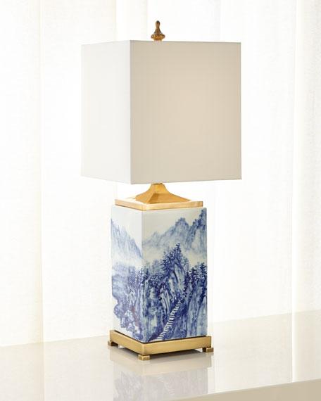 Porcelain Landscape Table Lamp