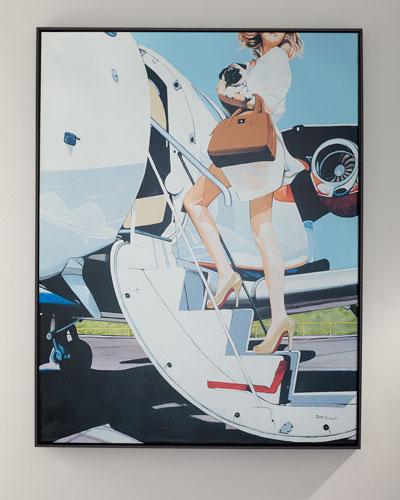 Jet Setter Giclee Canvas Art by Jeff Schaub