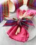 Faux Doupioni Glitter Plaid Multicolored Ribbon