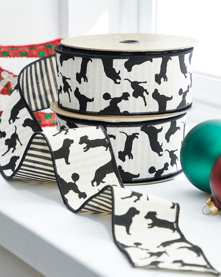 Canvas Ribbon with Dogs