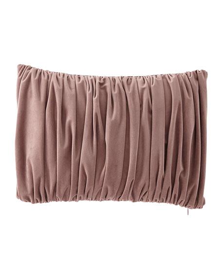 Iris Ruched Velvet Pillow