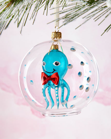 Octopus in Ball Ornament