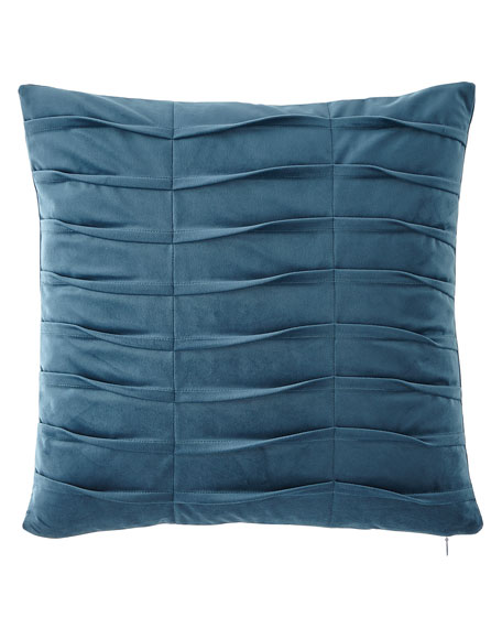 Emporium Pleated Velvet Boutique Pillow, Teal