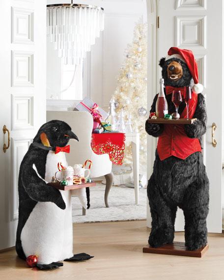 """Christmas Santa Bear Butler, 58"""""""