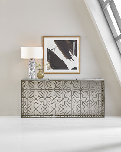 Laser Cut Metal Console Table