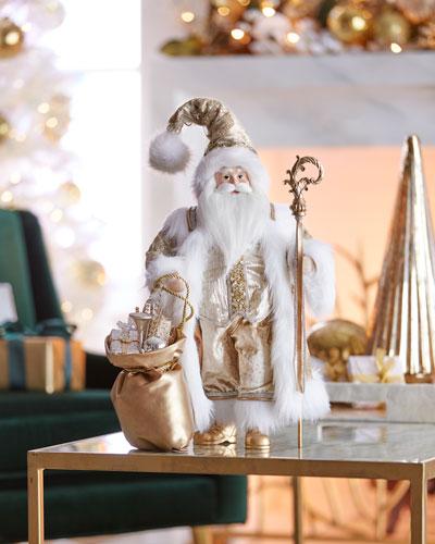 Gold Christmas Santa  18