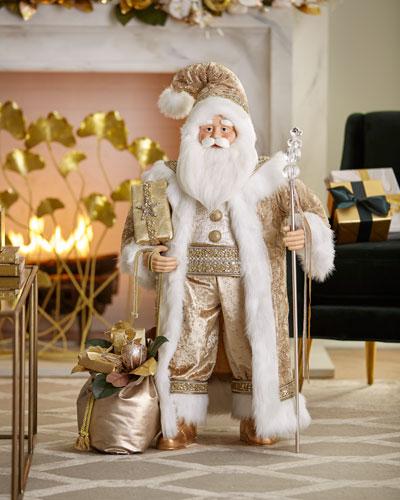 Gold Christmas Santa  36
