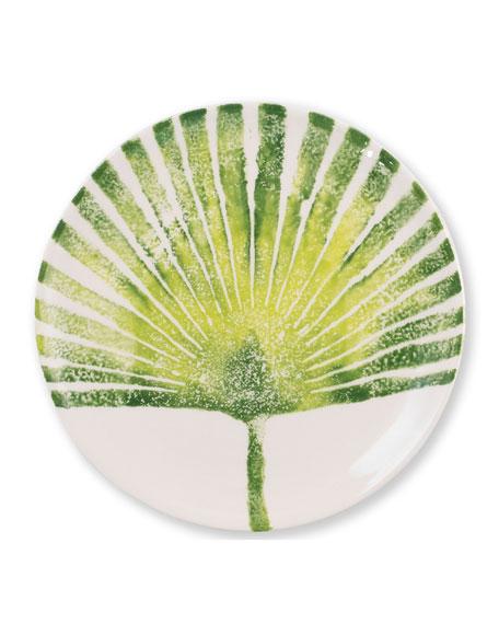 Vietri Into The Jungle Palm Leaf Salad Plate