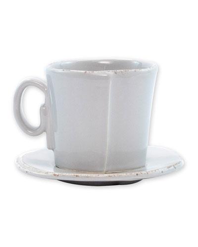 Lastra Espresso Cup & Saucer  Light Gray