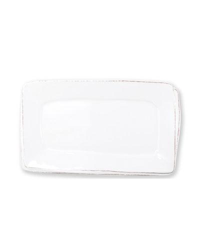Melamine Lastra Rectangular Platter  White