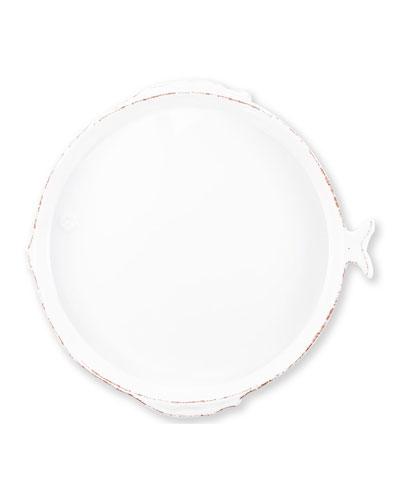 Melamine Lastra Fish Round Platter  White