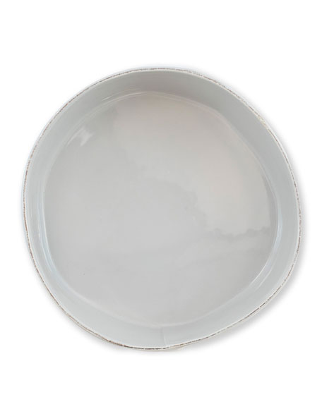 Lastra Large Serving Bowl, Light Gray