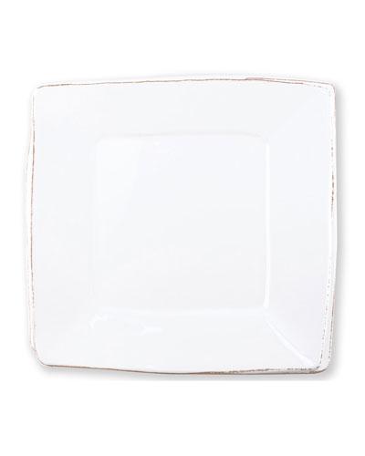 Melamine Lastra Square Platter  White