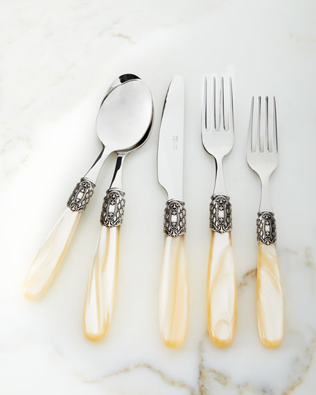 20-Piece Victoria Shine Flatware Set, Champagne