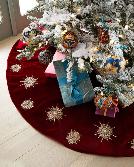 Spiritual Starburst Tree Skirt