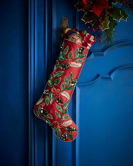 Holiday Garland Stocking