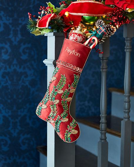 Kim Seybert Holiday Vine Stocking