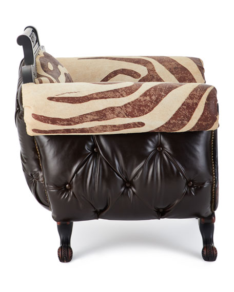 Meyer Tufted Leather & Hair on Hide Chair