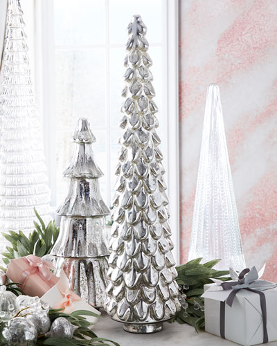 31 Silver Mercury Glass Tree