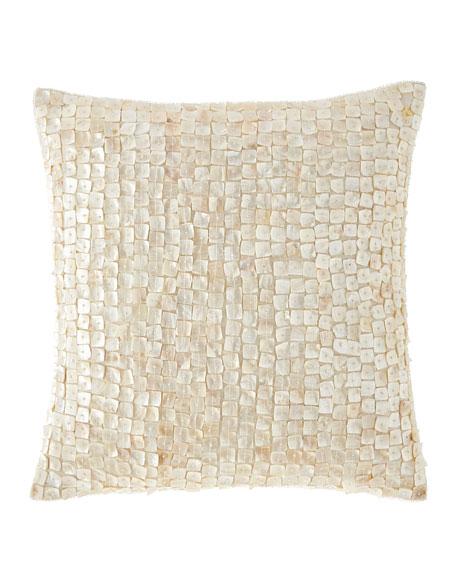 Jasmine Beaded Shell Pillow