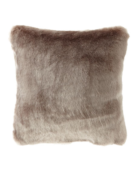 Isabella Collection by Kathy Fielder Jasmine Faux-Fur Pillow