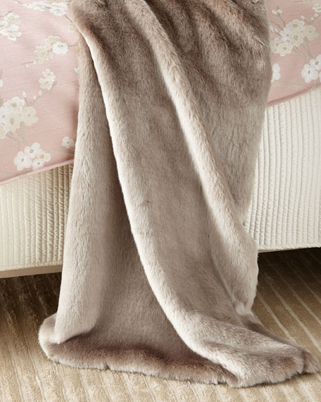 Isabella Collection by Kathy Fielder Jasmine Faux-Fur Throw