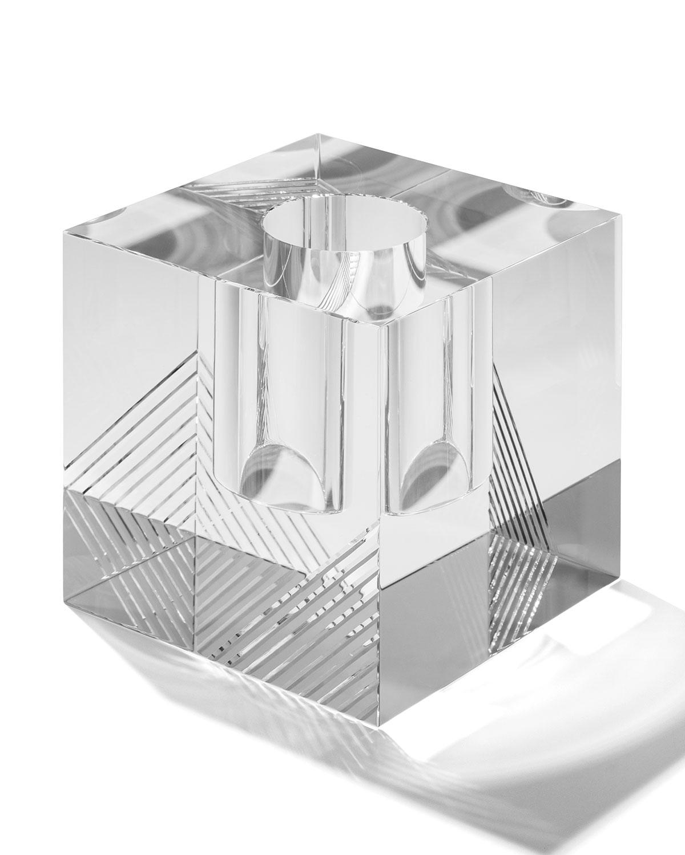 Veritasdiamond Cut Cube Vase