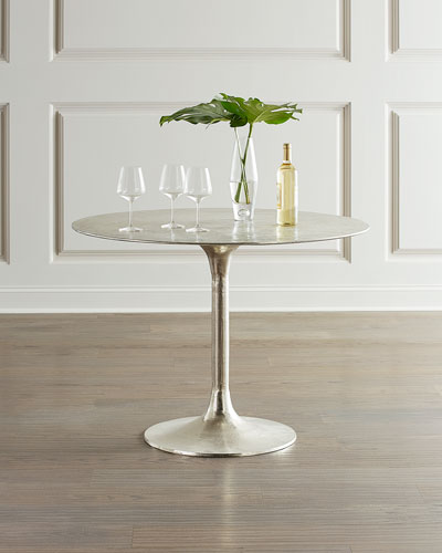 Joy Antiqued Nickel Bistro Table