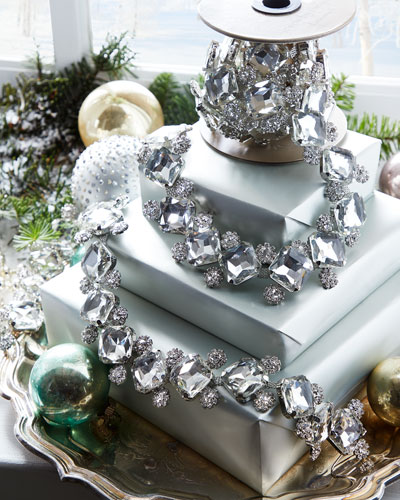 Princess Cut Crystal Glass Garland