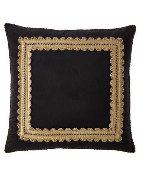 Midnight Framed Velvet European Sham