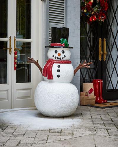 Outdoor Snowman Decoration